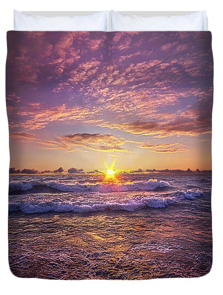 Duvet Cover featuring the photograph And Then Begin Again by Phil Koch