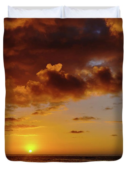 And Then The Sun Set Duvet Cover