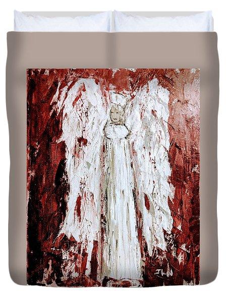 Angel Against Violence Duvet Cover