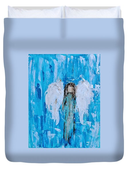 Angel Among Angels Duvet Cover
