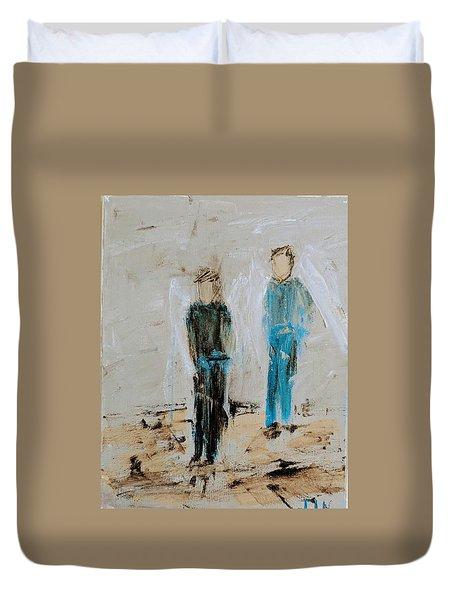 Angel Boys On A Dirt Road Duvet Cover