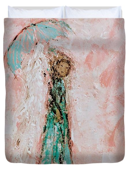 Angel By Your Side Duvet Cover