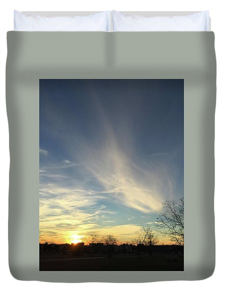 Angel Cloud Sunset Duvet Cover