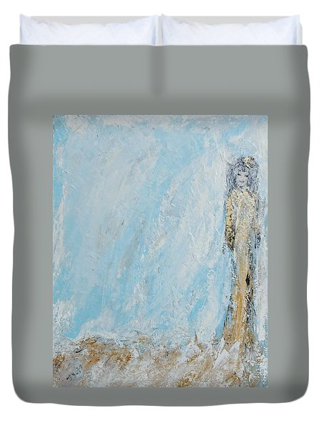 Angel For The New Year Duvet Cover