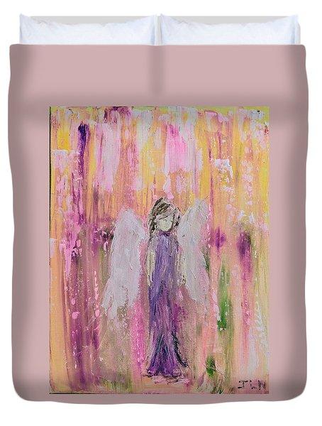Angel In  Paradise Duvet Cover