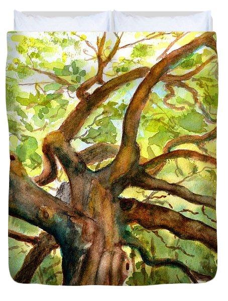 Angel Oak Tree South Carolina Duvet Cover