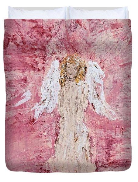 Angel Was Lost But Now Is Found  Duvet Cover