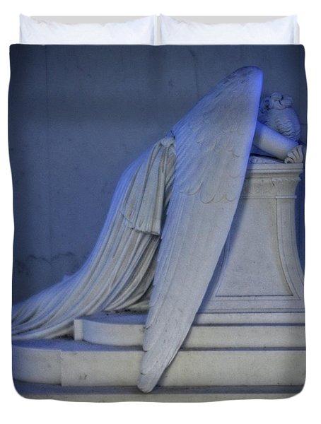 Angel Weeping Duvet Cover