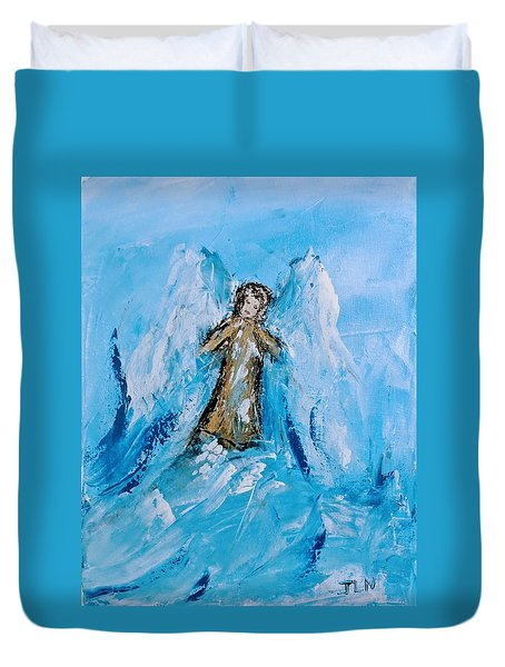 Angel With A Purpose Duvet Cover