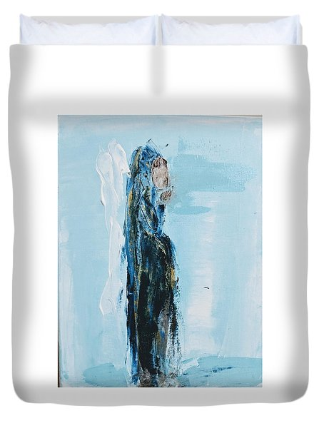 Angel With Child Duvet Cover