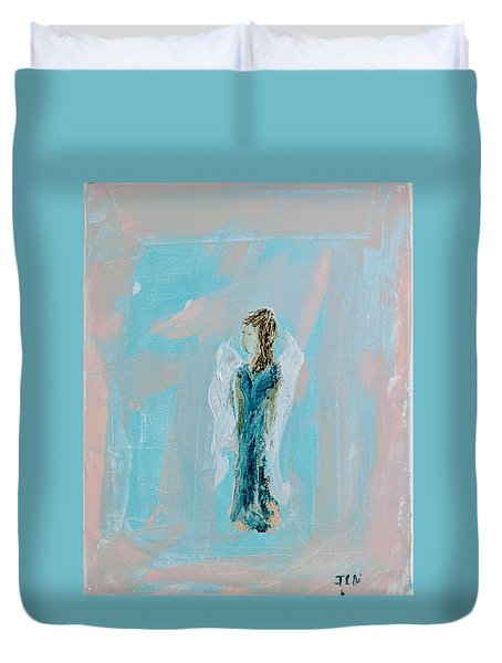 Angel With Character Duvet Cover