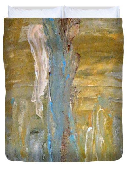 Angels In Prayer Duvet Cover