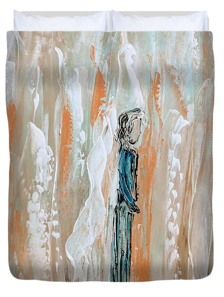 Angels In The Midst Of Every Day Life Duvet Cover