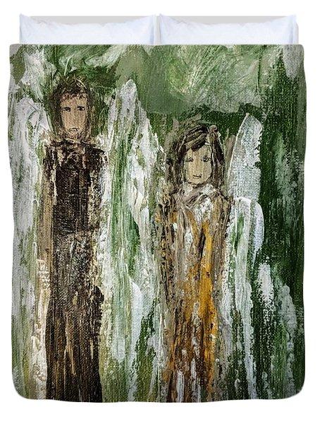 Angels For Support Duvet Cover