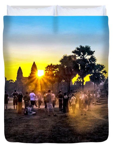 Angkor Wat At Sunrise - Siem Reap, Cambodia Duvet Cover