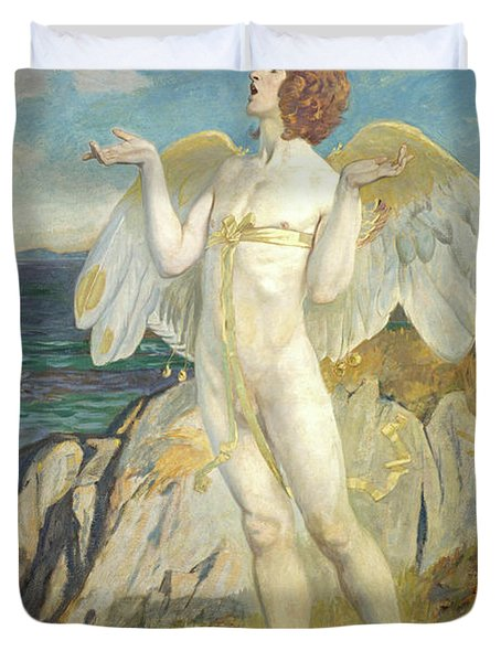 Angus Og, God Of Love And Courtesy, Putting A Spell Of Summer Calm On The Sea, 1908 Duvet Cover