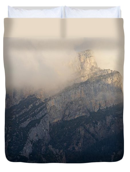 Duvet Cover featuring the photograph Anisclo Abstract by Stephen Taylor