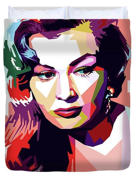 Anita Ekberg Pop Art Duvet Cover