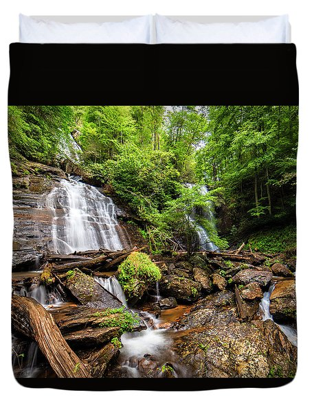 Duvet Cover featuring the photograph Anna Ruby Falls by Andy Crawford