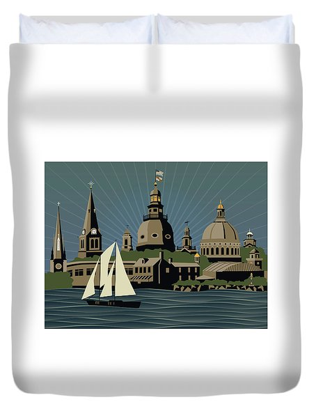 Annapolis Steeples And Cupolas Serenity Duvet Cover
