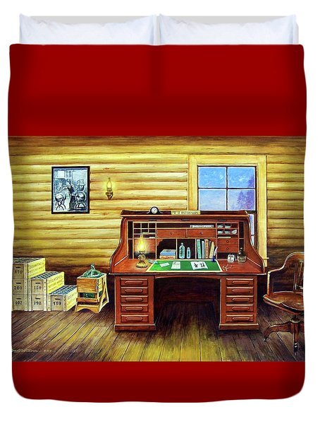 Another Day In The Books Duvet Cover