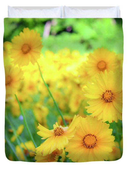 Another Glimpse, Pollinator Field Duvet Cover