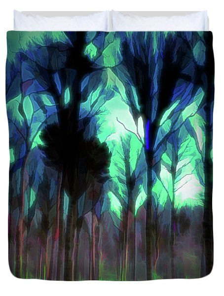 Another World - Forest Duvet Cover