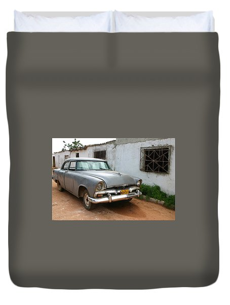 Antique Car Grey Cuba 11300501 Duvet Cover