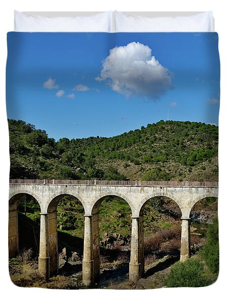 Antique Mertola's Bridge In Alentejo Duvet Cover