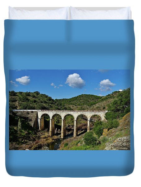 Antique Mertola's Bridge In Alentejo Duvet Cover