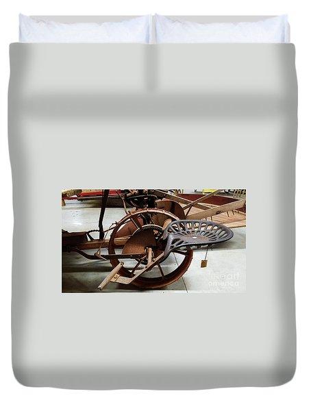 Antique Tractor Seat Duvet Cover