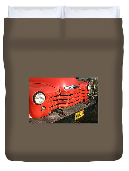 Antique Truck Red Cuba 11300502 Duvet Cover