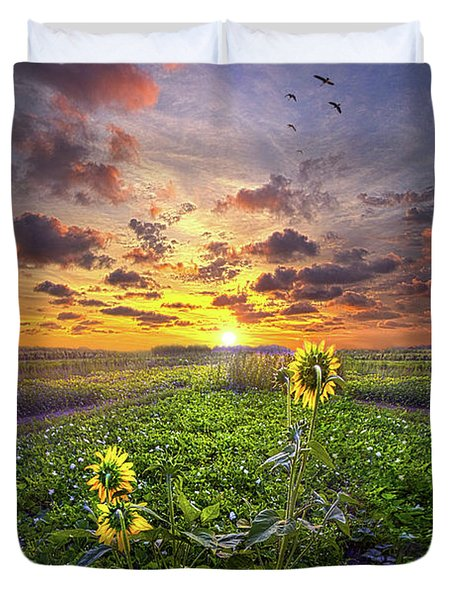 Duvet Cover featuring the photograph Any Time At All by Phil Koch