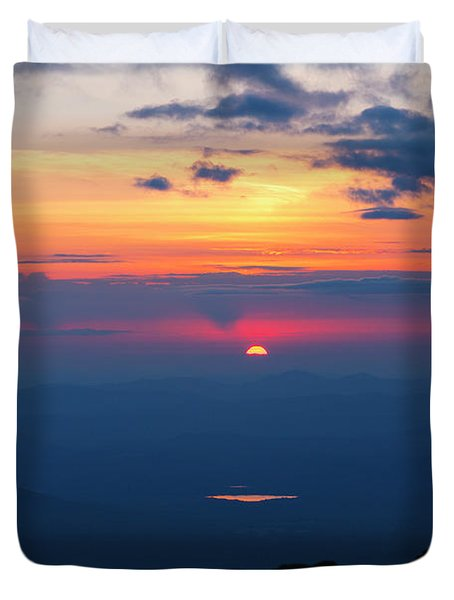 Duvet Cover featuring the photograph Appalachian Trail, New Hampshire Sunset by Erin Paul Donovan