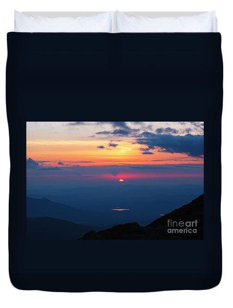 Appalachian Trail, New Hampshire Sunset Duvet Cover