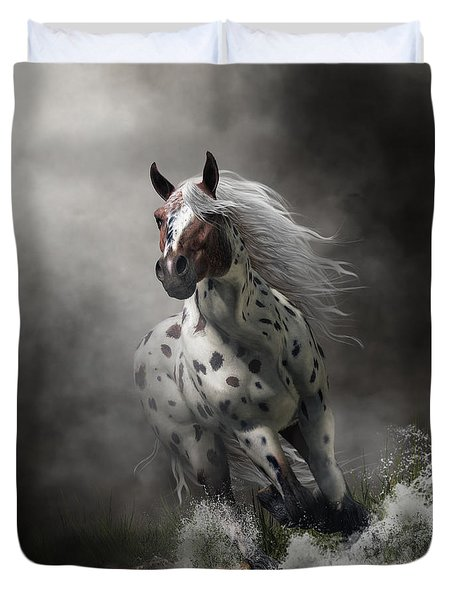 Duvet Cover featuring the digital art Appaloosa by Daniel Eskridge