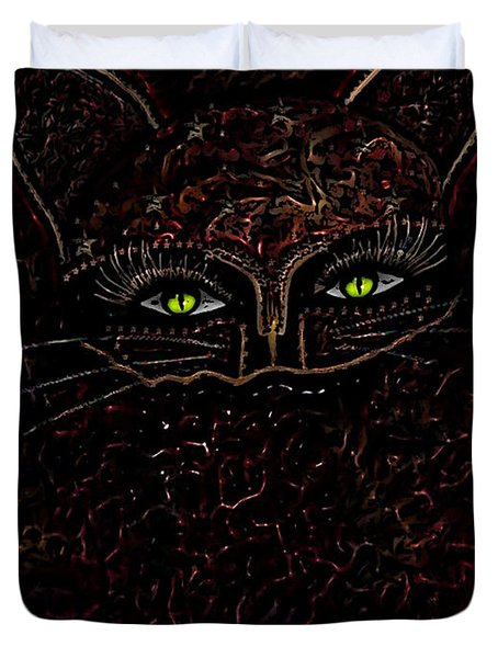 Appearance Of The Mystic Cat Duvet Cover