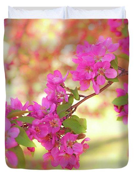 Apple Blossoms B Duvet Cover