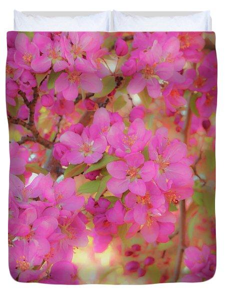 Apple Blossoms C Duvet Cover