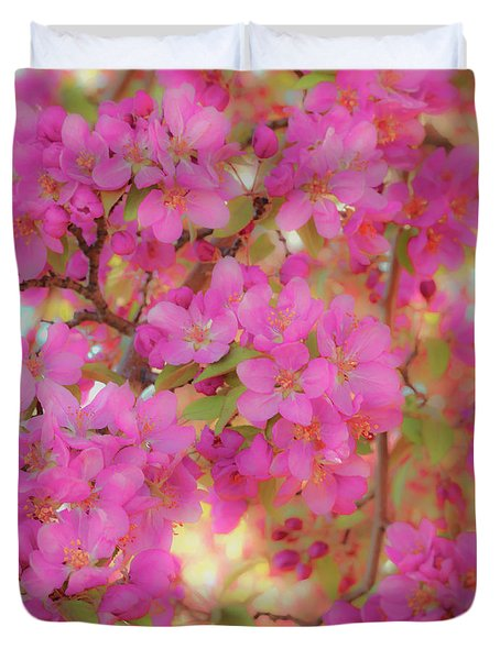 Apple Blossoms C Duvet Cover