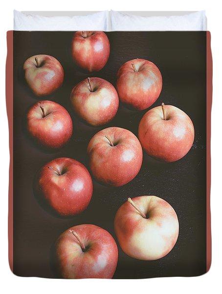 Apple Knolling Retro Duvet Cover