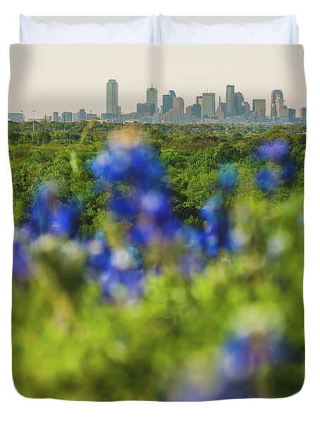 April In Dallas Duvet Cover