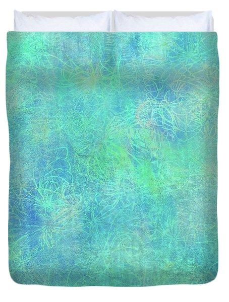 Aqua Batik Print Coordinate Duvet Cover