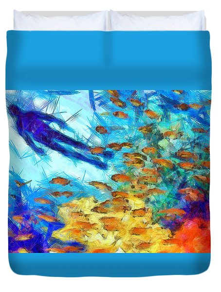 Aquaman Colorful - Da Duvet Cover