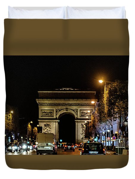 Duvet Cover featuring the photograph Arc De Triomphe by Randy Scherkenbach