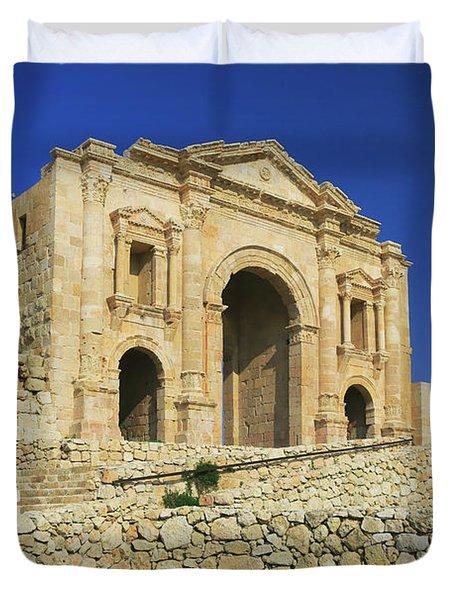 Arch Of Hadrian Jerash Jordan Duvet Cover