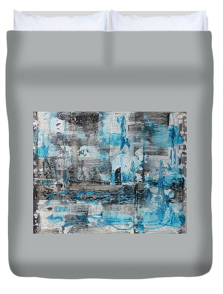 Duvet Cover featuring the painting Arctic by 'REA' Gallery