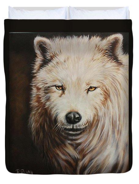 Arctic Wolf Portrait Duvet Cover