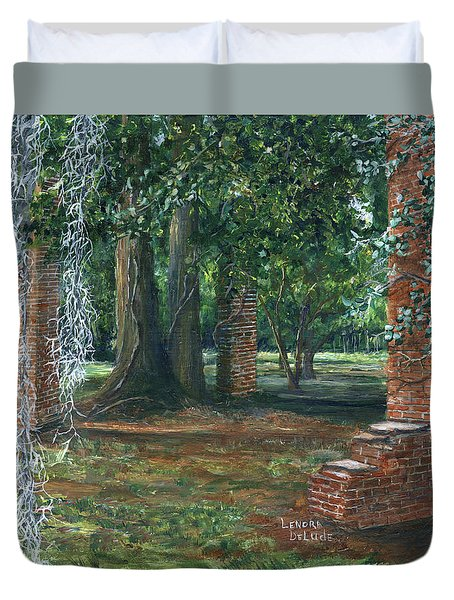 Ardoyne Ruins Near The Mansion, Houma, Louisiana Duvet Cover