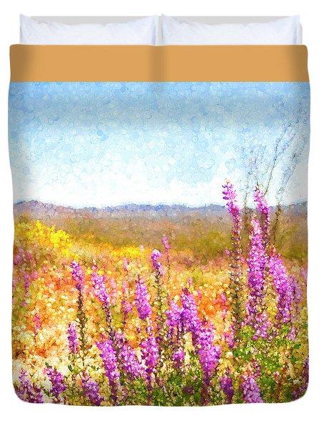 Arizona Lupin Duvet Cover